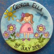 Handpainted Plate - Garden Girl